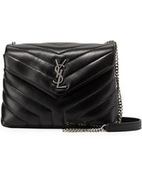 85bf248f8a Saint Laurent - Loulou Monogram Ysl Small Y-quilted Leather Chain Bag - Lyst