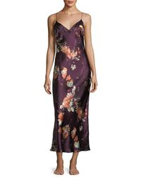 Meng - Floral-print Sleeveless Silk Nightgown - Lyst