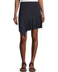 Jason Wu - Miniskirt W/ Asymmetric Pleated Hem - Lyst