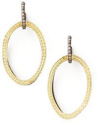 Armenta - Midnight Silver & 18k Gold Open-drop Earrings - Lyst