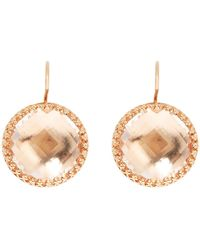 Larkspur & Hawk - Olivia White Quartz Drop Earrings With Copper Foil - Lyst