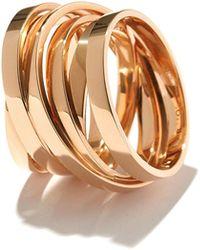 Repossi - Technical Berbere Ring In 18k Rose Gold - Lyst