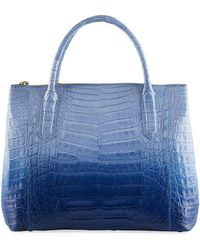 Nancy Gonzalez - Nix Medium Ombre Crocodile Zip Tote Bag - Lyst