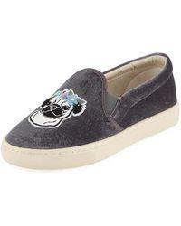 Soludos - Flower Pug Velvet Slip-on Sneakers - Lyst