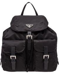 f47c26f3fdd720 Prada - Vela Large Two-pocket Backpack - Lyst