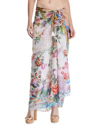 Johnny Was - Camellia Floral-print Coverup Sarong - Lyst