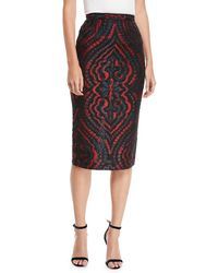 Roland Mouret - Norley Baroque Fil Coupe Pencil Skirt - Lyst