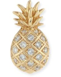 Sydney Evan - Pavé Diamond Pineapple Single Stud Earring - Lyst