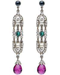 Ben-Amun - Velvet Glamour Deco Drop Earrings - Lyst