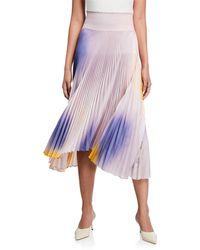 A.L.C. - Sonali Pleated Asymmetrical Midi Skirt - Lyst