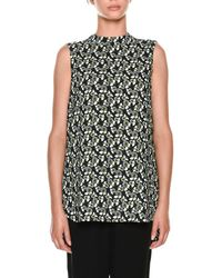 Marni - Sleeveless Floral-print Top - Lyst