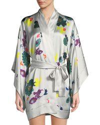 Meng | Floral Short Kimono Robe | Lyst