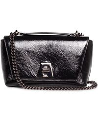 38a9bf276c Lyst - Givenchy  pandora  Small Crinkle Leather Bag in Black