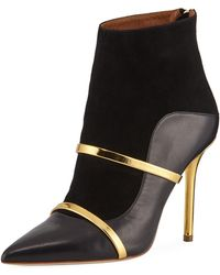 Malone Souliers - Madison 100mm Napa/suede Point-toe Booties - Lyst