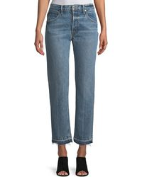 Helmut Lang - Light-wash Crease Straight-leg Jeans - Lyst