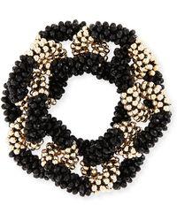 Meredith Frederick - Elsa 14k Gold & Onyx Link Bracelet - Lyst