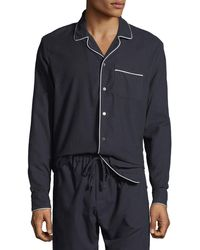 Desmond & Dempsey - Men's Contrast-piping Lounge Shirt - Lyst