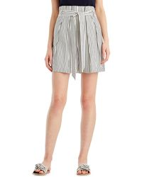 Jason Wu - Striped High-waist Paperbag Shorts - Lyst