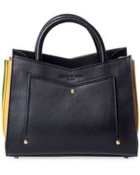 Sara Battaglia - Linda Toy Leather Tote Bag W/ Contrast Gussets - Lyst