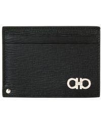 Ferragamo - Men's Revival Gancini Leather Card Case With Flip-out Id Window - Lyst