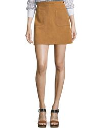 FRAME - Le High Suede Skirt - Lyst