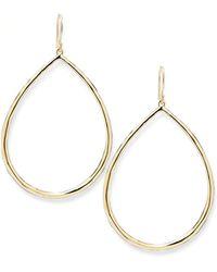 Ippolita - Wire Teardrop Hoop Earrings - Lyst
