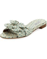 Tabitha Simmons - Cleo Floral Slide Sandals - Lyst