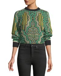 M Missoni - Graphic Jacquard Crop Top - Lyst