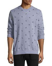 Derek Rose - Cornwall Feather-print Sweatshirt - Lyst