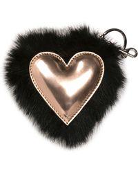 Stella McCartney - Faux-fur Heart Key Ring - Lyst