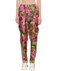 Dolce & Gabbana - Twill Silk Fig-print Pyjama Trousers - Lyst
