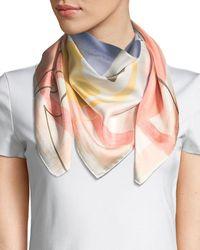 Lafayette 148 New York - Avant Garden Silk Twill Scarf - Lyst