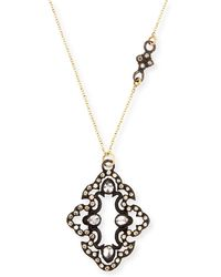 Armenta - Champagne Diamond Scroll Pendant Necklace - Lyst