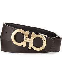 Ferragamo - Double-gancio Reversible Leather Belt - Lyst