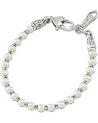Lagos - Kinder Sterling Silver Pearl Bracelet - Lyst