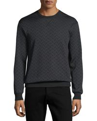 Ferragamo - Men's Gancini-pattern Wool-silk Sweatshirt - Lyst