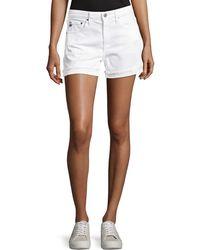 AG Jeans - Hailey Mid-rise Denim Jeans Shorts - Lyst