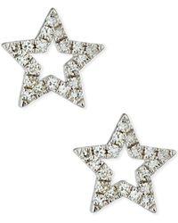 EF Collection - 14k Diamond Open Star Stud Earrings - Lyst