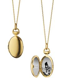 Monica Rich Kosann - Anna 18k Gold Petite Locket Necklace - Lyst