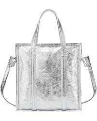 19ec7470e0 Balenciaga - Bazar Shopper Small Aj Metallic Leather Tote Bag - Lyst