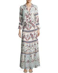 Melissa Odabash   Mel Tie-neck Paisley Summer Maxi Dress   Lyst