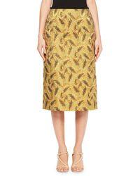 Dries Van Noten | Supra Leaf Jacquard Skirt | Lyst