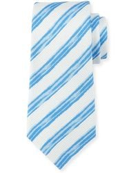 Kiton - Painted Striped Silk Tie - Lyst