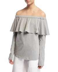 Robert Rodriguez - Off-the-shoulder Ruffle Cotton Top - Lyst