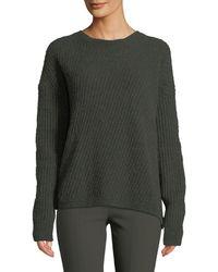 Vince - Side-slit Wool Crewneck Pullover Jumper - Lyst