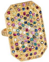 Carolina Bucci - 18k Gold Looking Glass Emerald-cut Ring - Lyst