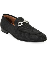 f0008da223b Lyst - Ferragamo Giordano Leather Bit Loafer White in White for Men