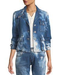 Ralph Lauren Collection - Isabele Coastal Denim Safari-style Jacket - Lyst