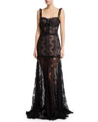 Alexis - Kieran Lace Bustier Cocktail Dress - Lyst