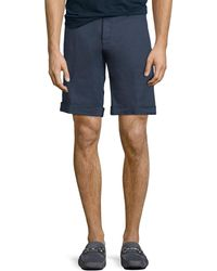 Etro - Washed Linen/cotton Stretch Bermuda Shorts - Lyst